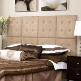 AZ Home and Gifts Next Luxe 18 in. x 18 in. 8 Wall Panel Headboard Set in Microsuede Taupe