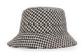Ralph Lauren Wool-Cotton Tweed Bucket Hat Black/White Glen Plaid One Size