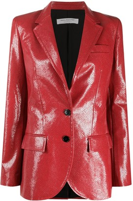 Philosophy di Lorenzo Serafini Faux Leather Blazer