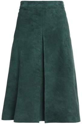 Vanessa Seward Pleated Suede Skirt