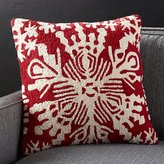 Crate & Barrel Snowflake Pillow