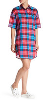 Love Moschino Plaid Shirt Dress