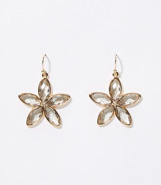 LOFT Crystal Flower Drop Earrings