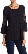 Spense 3/4 Bell Sleeve Lace Blouse