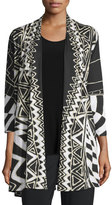 Caroline Rose 3/4-Sleeve Animal Instinct Cardigan