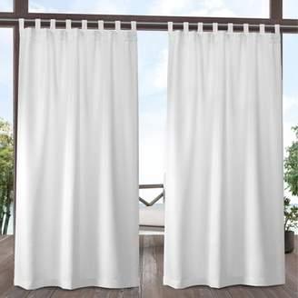 Mid-Century MODERN Exclusive Home Indoor/Outdoor Solid Cabana Tab Top Window Curtain Panel Pair Winter