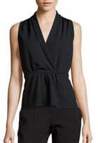 Collective Concepts V-Neck Sleeveless Embellished Top
