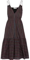 Apiece Apart Daphne Printed Cotton-poplin Dress