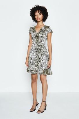 Coast Animal Print Short Wrap Dress