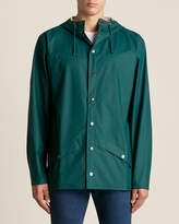 Rains Snap Front Hooded Rain Jacket
