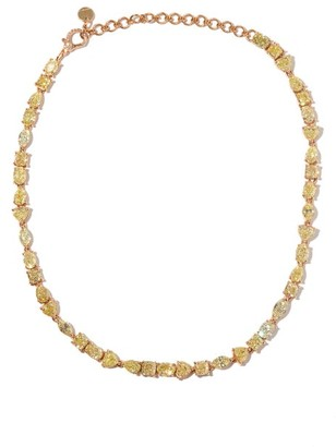 Shay Yellow-diamond & 18kt Rose-gold Choker - Rose Gold