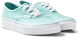 Vans Blue Glitter and Iridescent Authentic Trainers