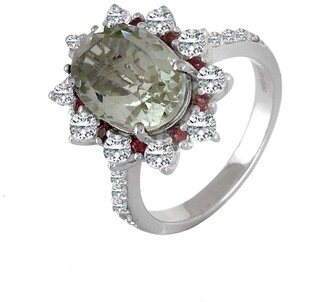 Forever Creations Usa Inc. Forever Creations Silver 8.80 Ct. Tw. Gemstone Ring