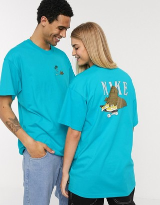 Nike SB graphic t-shirt in turquoise