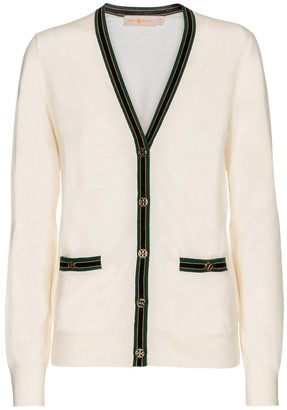 Tory Burch V-neck merino wool cardigan