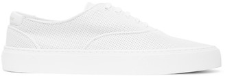Saint Laurent White Perforated Venice Sneakers