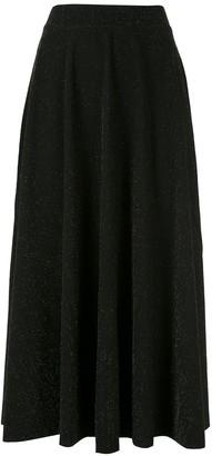 Eva Glitter Midi Flared Skirt