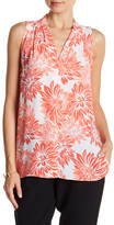 Vince Camuto Pleated V-Neck Tank