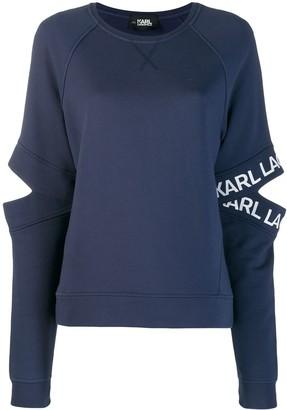 Karl Lagerfeld Paris cut-out logo sleeve sweatshirt