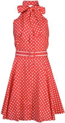 Zimmermann bow-tie polka dot mini dress