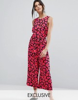 Warehouse Poppy Print Jumpsuit