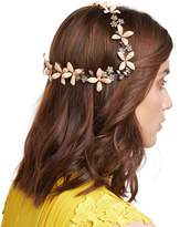 Jennifer Behr Lillith Painted Flower Coronet Headband