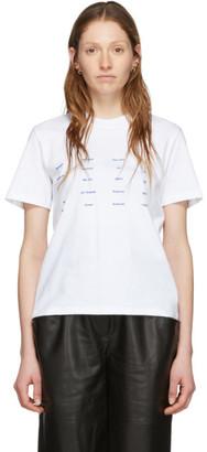 Proenza Schouler White White Label Address Logo T-Shirt