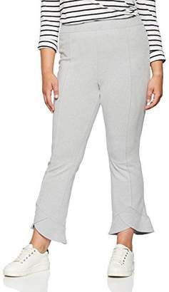 ELVI Women's The Ola Fold Frill Hem Cropped Trousers in Brushed Jersey,(Size:28)