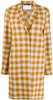 Harris Wharf London Single-Breasted Houndstooth Coat