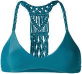 Mikoh woven racerback bikini top - women - Nylon/Spandex/Elastane - L