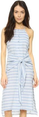 J.o.a. Women's Striped Sleeveless Tie Front Dress