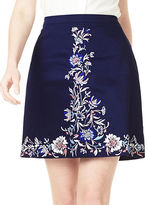 Precis Petite Embroidered A-line Skirt