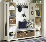 Pottery Barn Samantha 3-Piece Bench & Bookcase Entryway Set