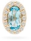 Alison Lou T Diamond, Topaz And 14kt Gold Single Earring - Womens - Blue