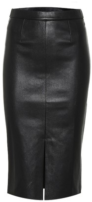 STOULS Carmen leather midi skirt