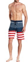 Burnside Lace-Up American Flag Board Short