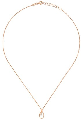 As 29 14kt rose gold diamond Zero necklace