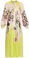 Roberto Cavalli Kimono floral-print silk-georgette dress