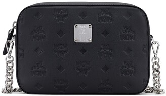 MCM Klara Monogram Embossed Leather Camera Bag