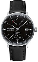 Junkers Men's Automatic Watch with Black Dial Analogue Display and Black Leather Strap 60602