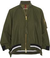 Moncler Reblochon Gabardine Bomber Jacket - Green