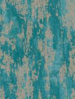 Boutique Industrial Texture Turquoise Wallpaper