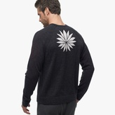 James Perse Cashmere Graphic Raglan Sweater
