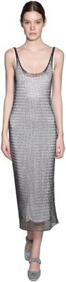 ALEXACHUNG Knit Midi Dress W/ Jersey Lining