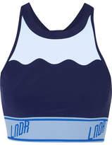 LNDR - Swell Stretch-jersey Sports Bra - Navy