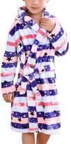 Mesinsefra Children Robe Flannel Bathrobe Kids Sleepwear M