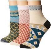 Free People Triple the Fun Socks 3-Pack Women's Crew Cut Socks Shoes
