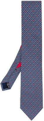 Salvatore Ferragamo ace, spade and heart print tie