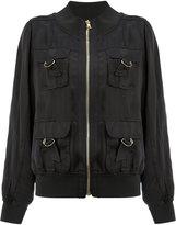 Balmain D-ring pocket bomber jacket - women - Polyamide/Spandex/Elastane/Viscose - 38