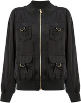 Balmain D-ring pocket bomber jacket